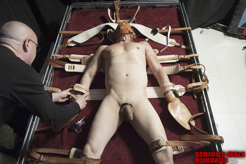 Men in bondage restraints share your